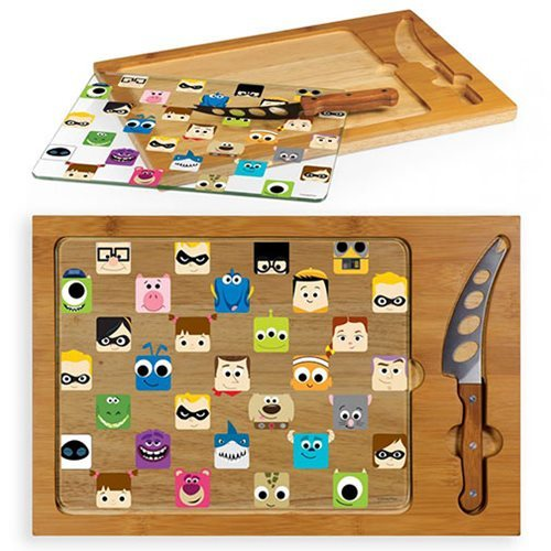 Pixar Collection - Icon Glass Top Serving Tray and Knife Set