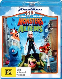 Monsters vs Aliens - 3D Combo on Blu-ray, 3D Blu-ray