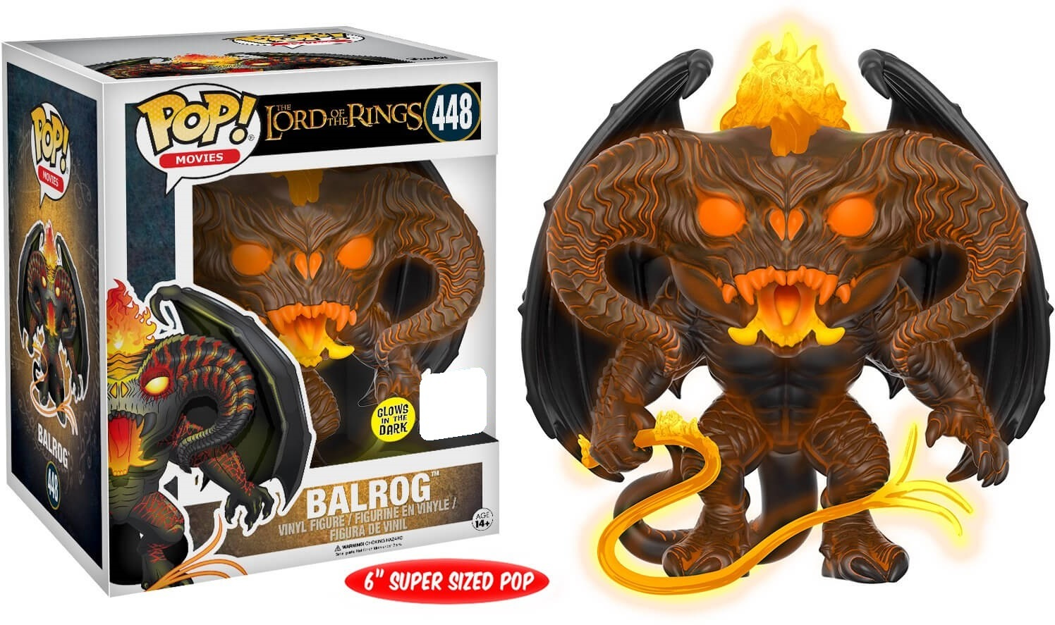 """The Lord of the Rings - Balrog (Glow) 6"""" Pop! Vinyl Figure (LIMIT - ONE PER CUSTOMER) image"""