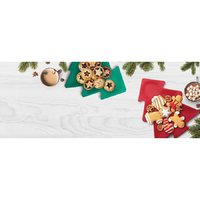 IS GIFT Bamboo Christmas Tree Plate