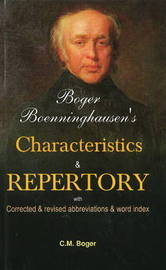 Boger Boenninghausen's Characteristics & Repertory by Cyrus Maxwell Boger image