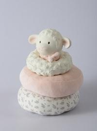 Tikiri: Lila Lamb - Pink Stacker Toy