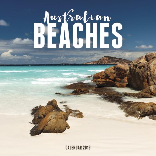 Australian Beaches 2019 Square Wall Calendar