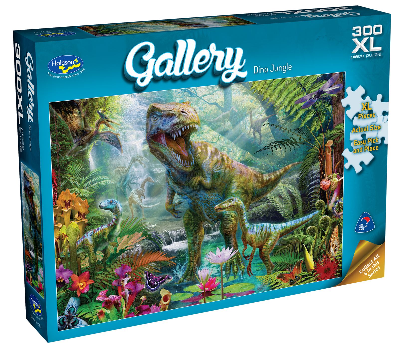 Holdson XL: 300 Piece Puzzle - Gallery (Dino Jungle) image