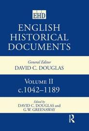 English Historical Documents 1042-1189: v.2 image