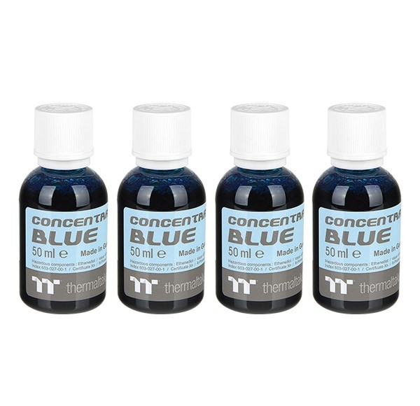 Thermaltake: Premium Contentrate Coolant - Blue (50ml) 4 Pack