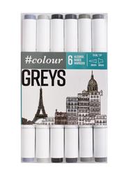 #Colour: Marker Set - Grey (6 Pack)