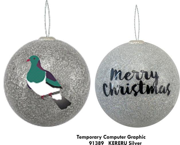 Antics: Christmas Decoration - Kereru Silver