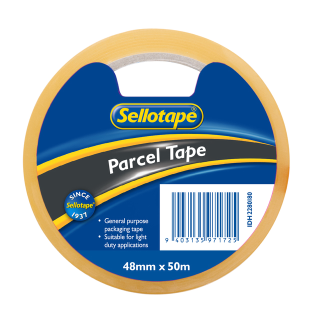 Sellotape: Economy Parcel Tape - Clear (48mmx50m)