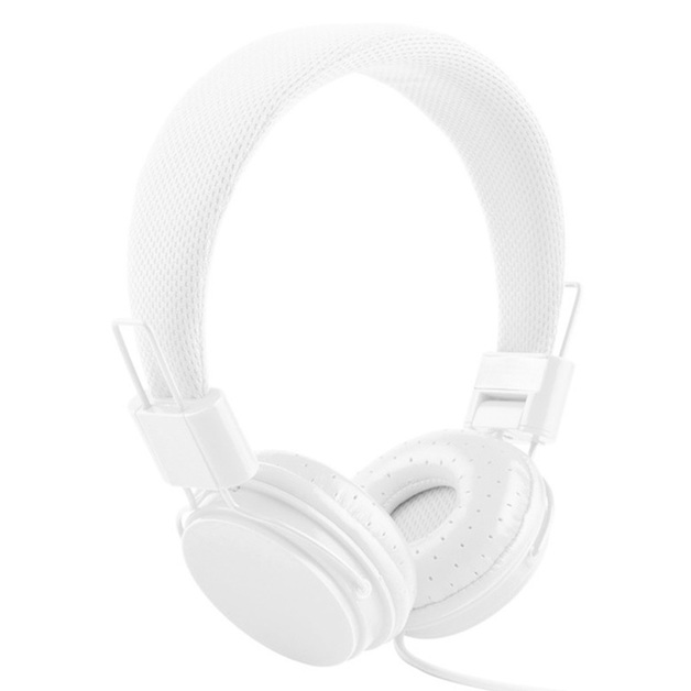 Music On-Ear Earphones with Microphone - White