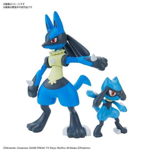 Pokemon Plamo: Riolu & Lucario - Model Kit
