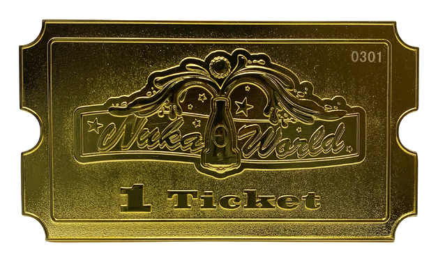 Fallout: Nuka World Ticket (24k Gold Plated) - Metal Replica