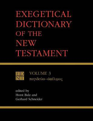 Exegetical Dictionary of the New Testament: v. 3 image