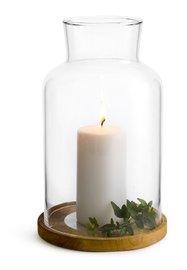 Sagaform: Oak Lantern & Candle - Gift Set