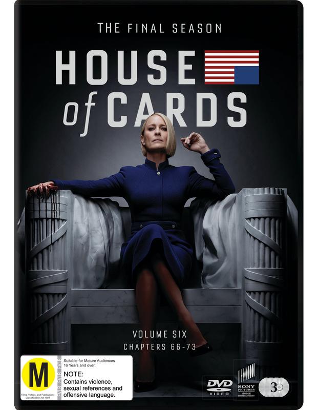 House Of Cards: Season 6 (3 Disc Set) on DVD