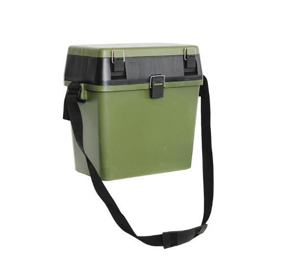 Ape Basics Portable PE Multifunctional Fishing Storage Box - Green Black