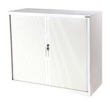 Proceed 3 Tier Tambour with 2 Shelves - W1200mm x D500mm x H1020mm (White)