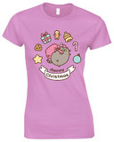 Pusheen Meowy Christmas T-Shirt (Large)