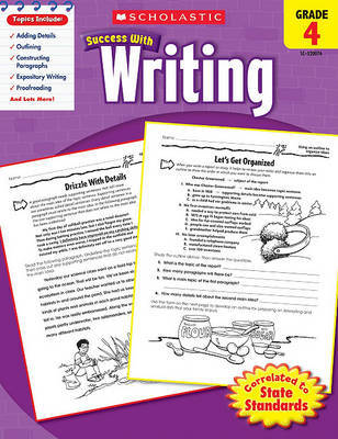 Scholastic Success with Writing, Grade 4 by Barbara Adams image