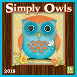 Simply Owls 2018 Square Wall Calendar by Next Day Art