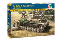 Italeri 1/35 Pz.Kpfw IV AUSF F1/F2/G Early - Scale Model Kit