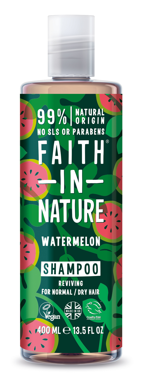 Faith In Nature: Watermelon Shampoo for Normal/Dry Hair (400ml) image