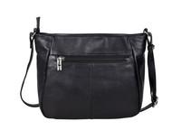 Urban Forest: Olivia Zip Top Handbag w/Front Pocket - Florence Black