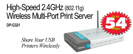 D-Link  Wireless Print Server 2U+P