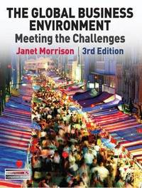 The Global Business Environment by Janet Morrison image