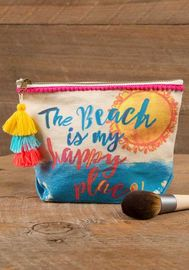 Natural Life: Canvas Pouch - Beach Happy Place