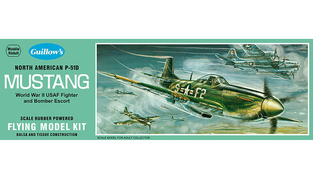 U.S. P-51D Mustang 1/25 Balsa Model Kit