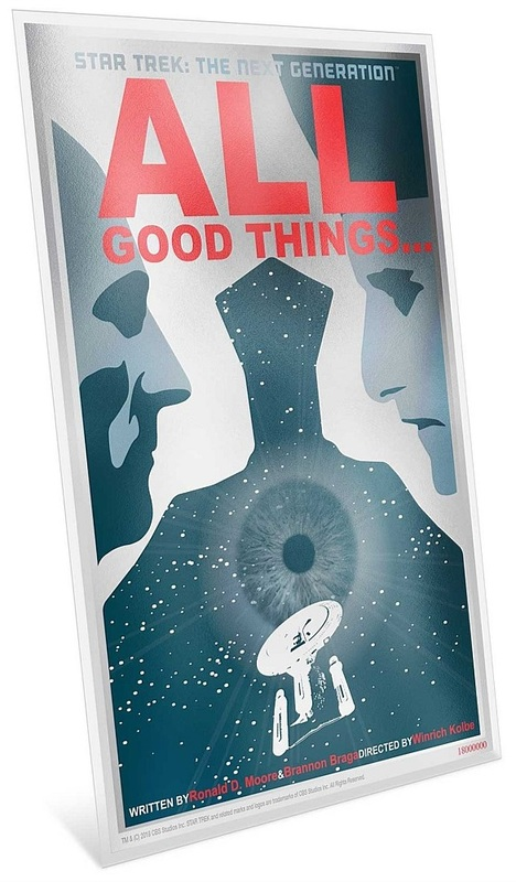 NZ Mint: Star Trek - Silver Coin Note - All Good Things (5g Silver)