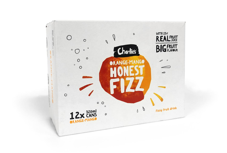 Charlie's Honest Fizz- Orange Mango 320ml (12 Pack) image
