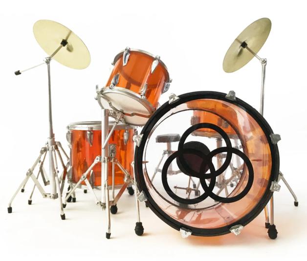 Axe Heaven: Miniature Replica - Zep Vistalite Drums (Transparent Amber)