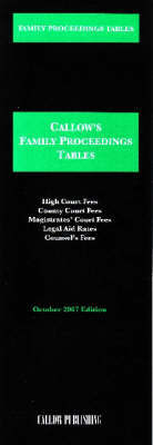 Family Proceedings Tables: 2007