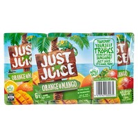 Just Juice: Orange & Mango (6 x 250ml)