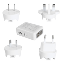 4 Port Universal Travel Charger - White