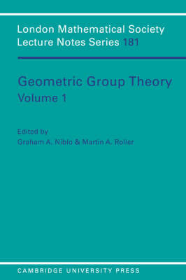 Geometric Group Theory: Volume 1 image