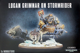 Warhammer 40,000 Space Wolves Logan Grimnar on Stormrider