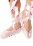 Fairy Girls - Ballet Slipper with Ribbon in Light Pink (Small, age 2-4)