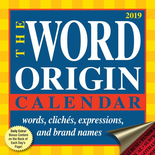 Word Origin 2019 Day-to-Day Calendar