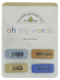 Doodlebug - Oh My Words! Embellishments (Dad)