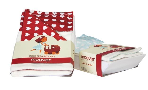 Moover Pram Bedding - Blue image
