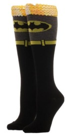 DC Comics: Batman Sequin Cuff- Knee High Socks