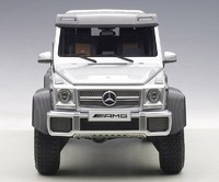 AUTOart: 1/18 Mercedes Benz G63 AMG 6x6 (Silver) - Diecast Model image