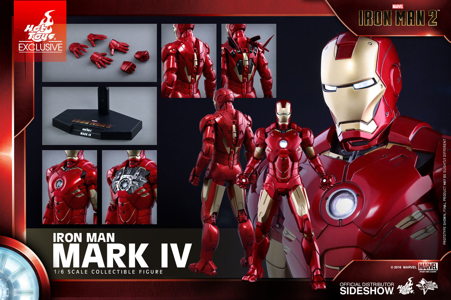 Iron Man 2 - Mark IV 1:6 Scale Collectible Figure image