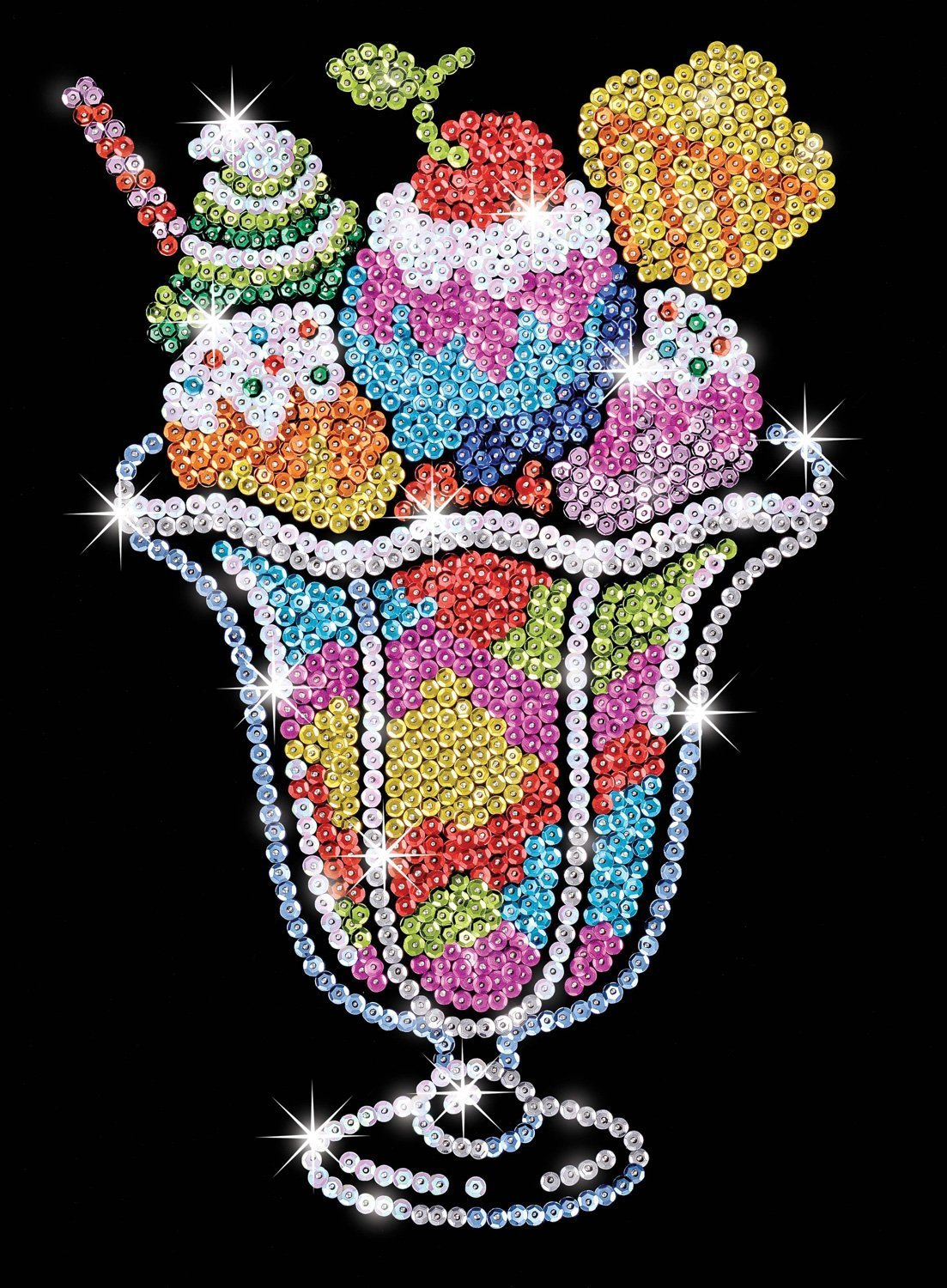 Sequin Art - Ice Cream image