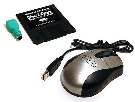 Belkin Optical MiniScroller Mouse (3 button w/scroll  wheel)