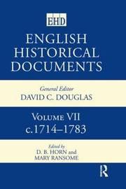 English Historical Documents: v. 7 image