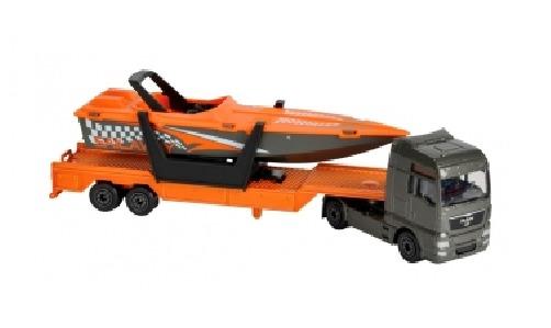 Majorette: Utility Transporter Playset - Speed Boat